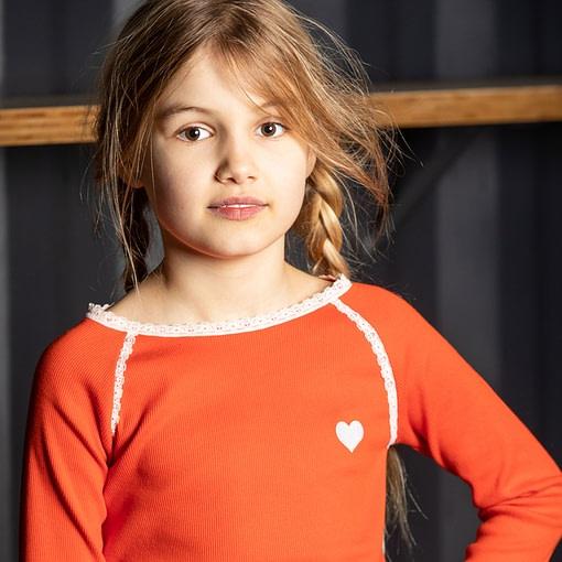 Alba top Ghita blouse Spicy Orange