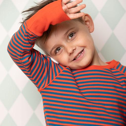 Alba Henrik Top Spicy Orange Magic stripes