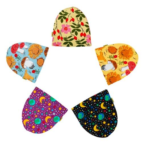 DUNS Sweden organic cotton beanie hat : Mother Earth | Sunflower | Rosehip 1