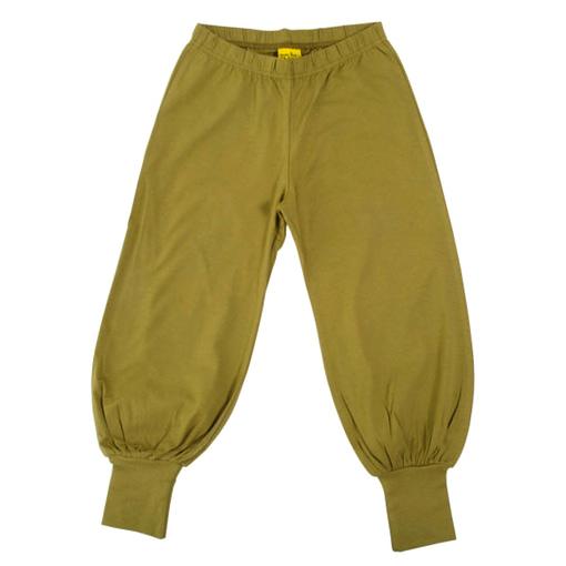 More than a Fling sage green organic cotton baggy pants 1
