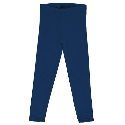 Maxomorra velour leggings navy blue
