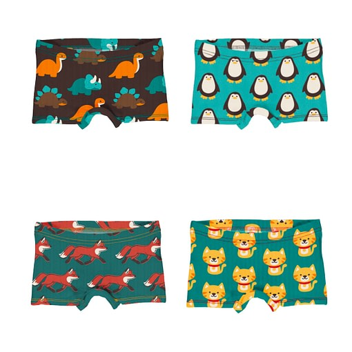 Maxomorra boxer briefs dinosaur penguin fox cat