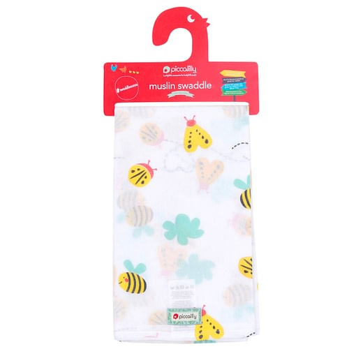 Piccalilly muslin organic cotton Bumblebee