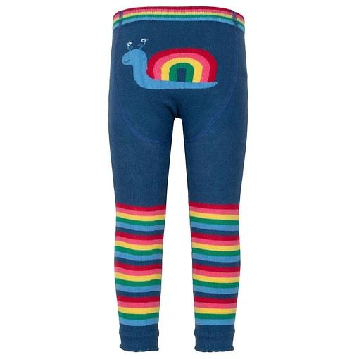 Kite rainbow snail striped leggings