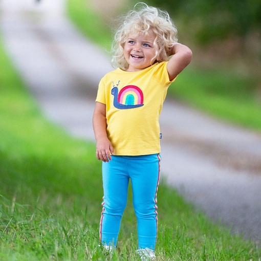 Kite rainbow snail t-shirt