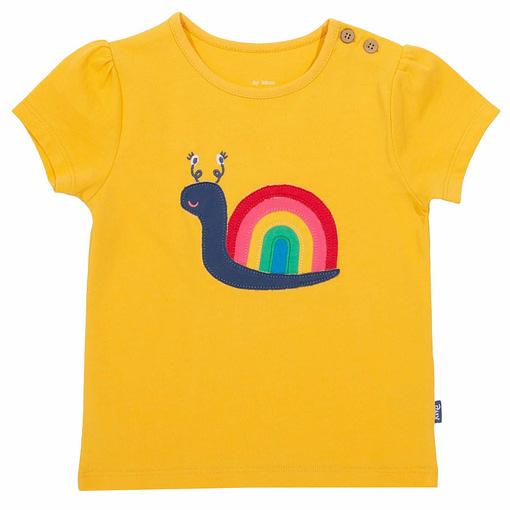 Kite t-shirt rainbow snail