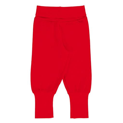 Maxomorra solid ruby red rib pants