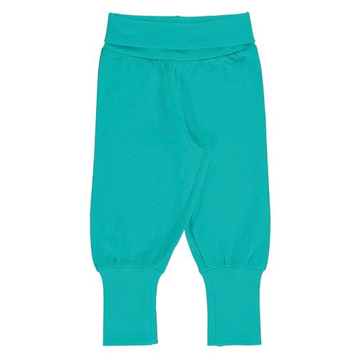 Maxomorra aqua blue rib pants