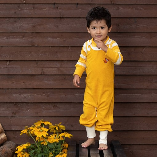 Alba Happy Crawlers Old Gold Yellow Frotte