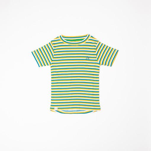 Alba of Denmark Turkish Tile yellow stripes Bell t-shirt