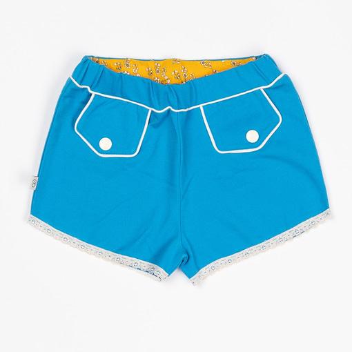 Alba of Denmark My Grandmother's shorts in Brilliant Blue organic cotton 1