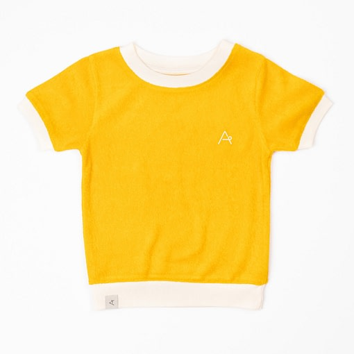 Alba terry t-shirt Old Gold