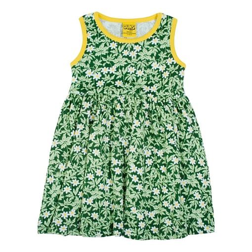 DUNS Sweden dress wood anemone green
