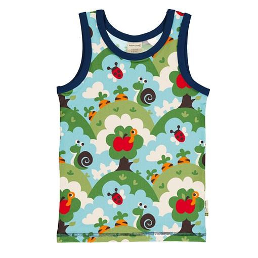 Maxomorra vest in ethical cotton - garden 1