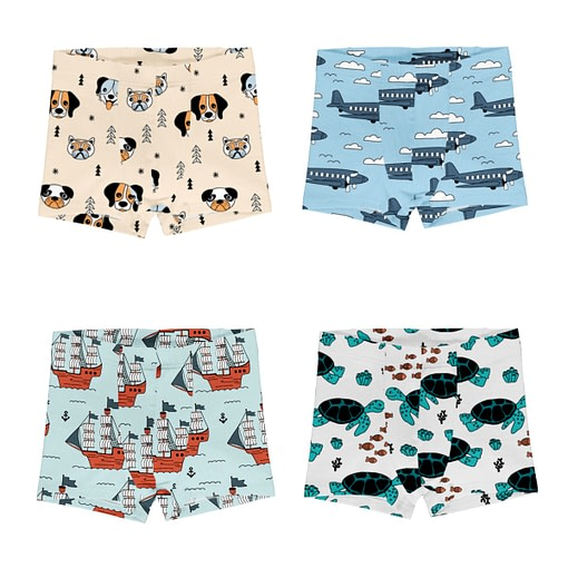 Meyadey boxer shorts dog airoplane ship turtle