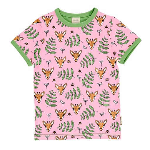 Meyadey t-shirt giraffe garden