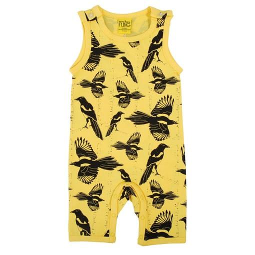 DUNS Sweden playsuit Pica Pica yellow