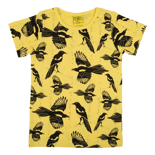 DUNS Sweden t-shirt Pica Pica yellow