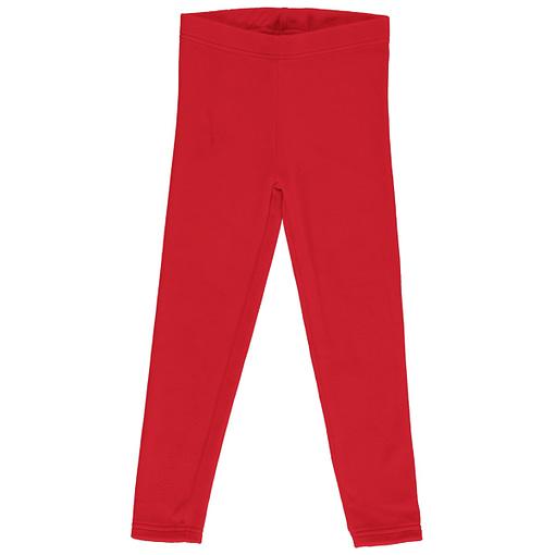 Maxomorra velour ruby red leggings