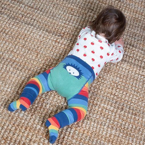 Kite rainbow hedgehog knit leggings in organic cotton 2