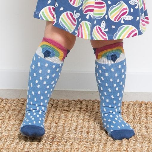 Kite foxy rainbow knee high socks organic cotton - 2 pack 2
