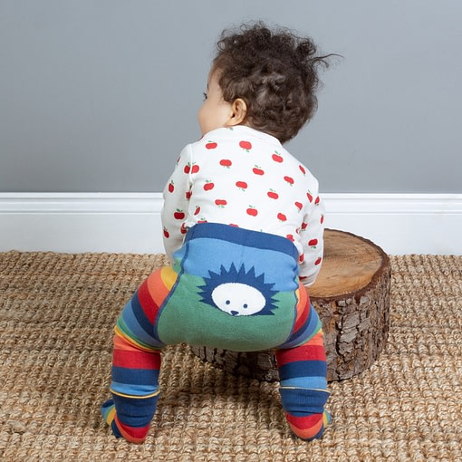 Kite rainbow hedgehog knit leggings in organic cotton 1