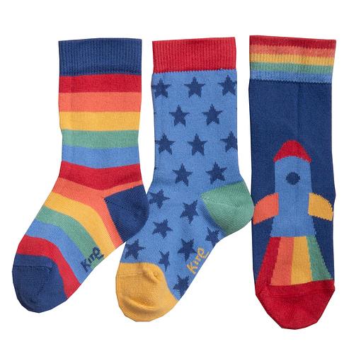 Kite clothing socks rainbow rocket