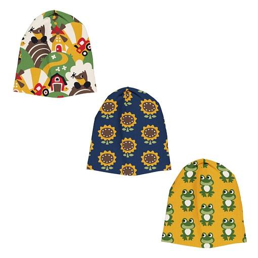 Maxomorra farm frog sunflower beanie hat