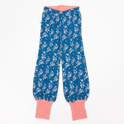 Alba Mykonos blue flower garden balloon pants