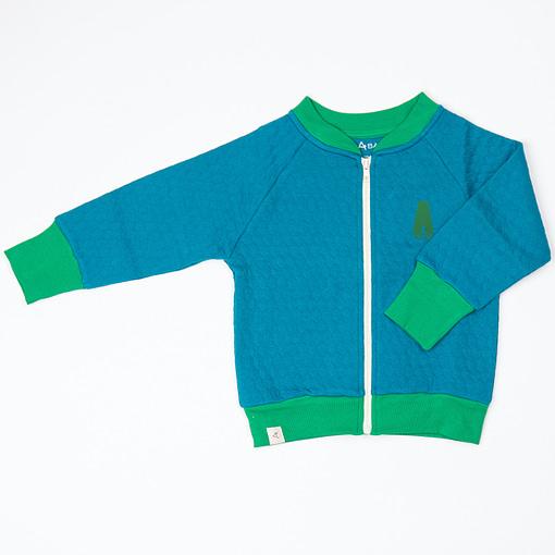 Alba quilted jacket turkish tiles blue