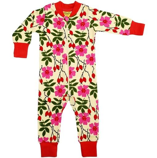 Organic cotton wild rose onesie romper pyjamas
