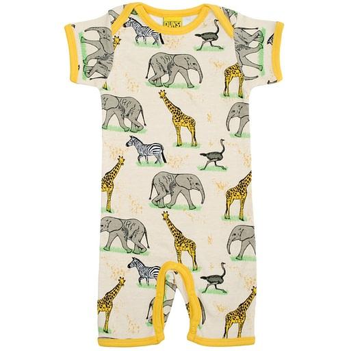 Summer romper suit by DUNS Sweden - safari print