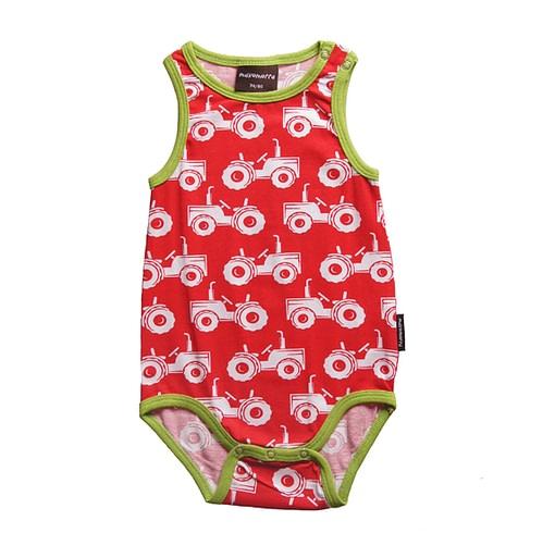 Maxomorra tractors sleeveless baby tank vest