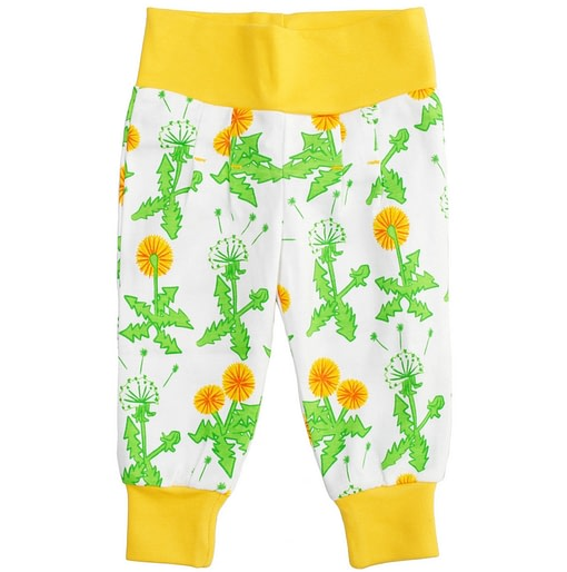 DUNS Sweden Dandelion print baby trousers in organic cotton 1