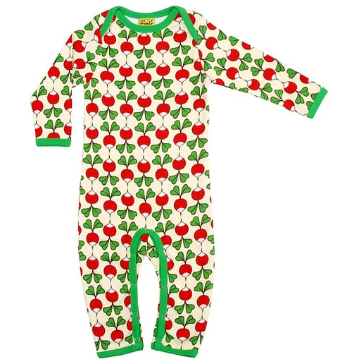 Radishes print romper by DUNS Sweden