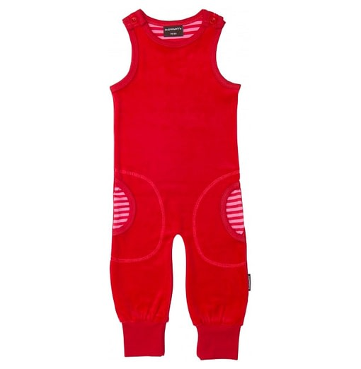 Bright red unisex play clothes by Maxomorra - Swedish designer