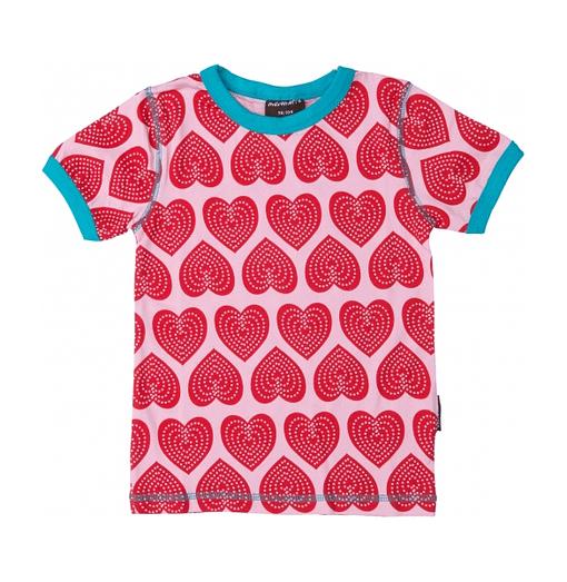Heart print t-shirt by Maxomorra