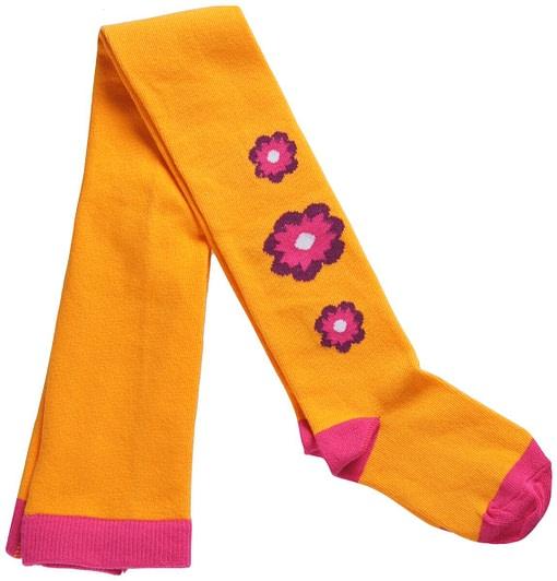 Organic cotton flower power tights
