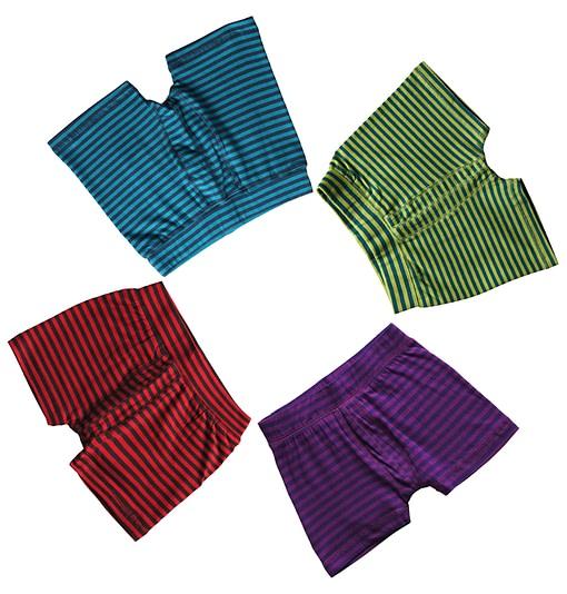 Maxomorra ~ organic cotton toddler boxer shorts in stripes 1