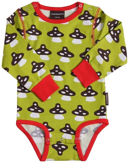 Organic long sleeve baby vest