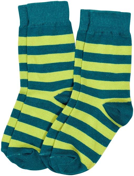 Maxomorra striped organic cotton unisex socks for children - 2 packs 1