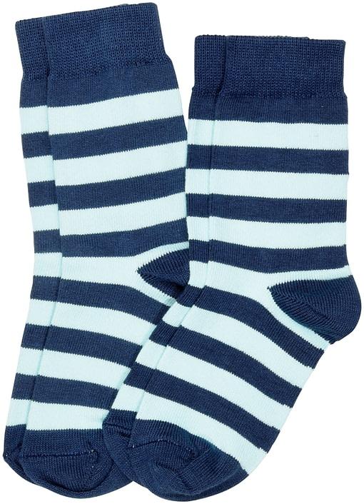Maxomorra striped organic cotton unisex socks for children - 2 packs 2