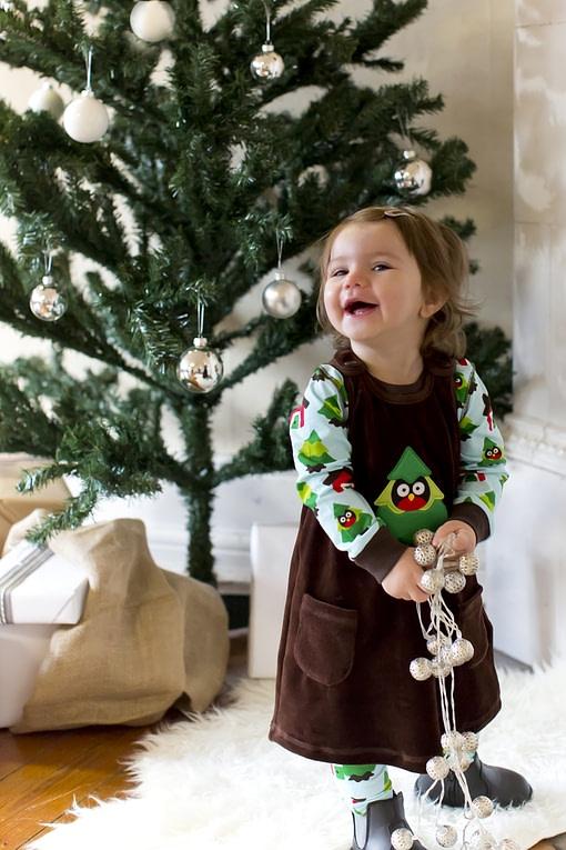 Forest print organic cotton long sleeve bodysuit - Maxomorra (74cm 6-9m) 3