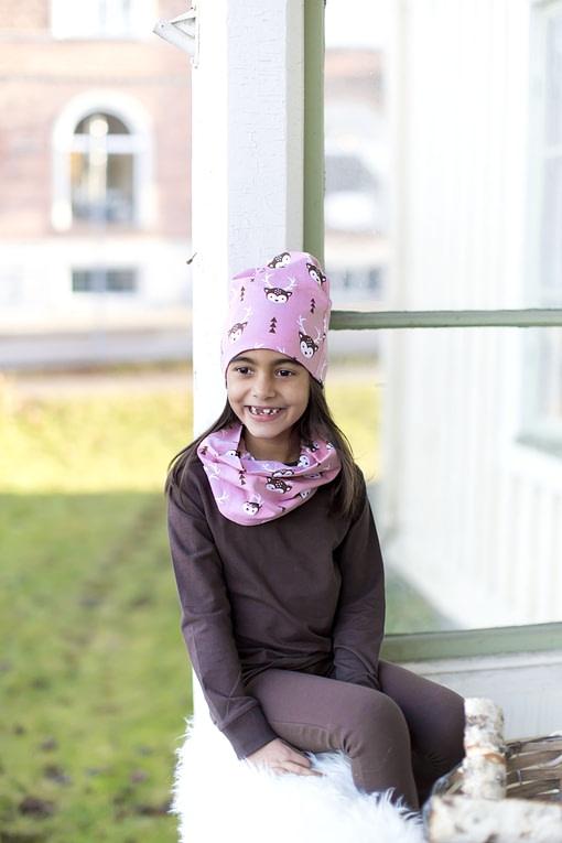 Deer organic cotton tube scarf from Maxomorra 4