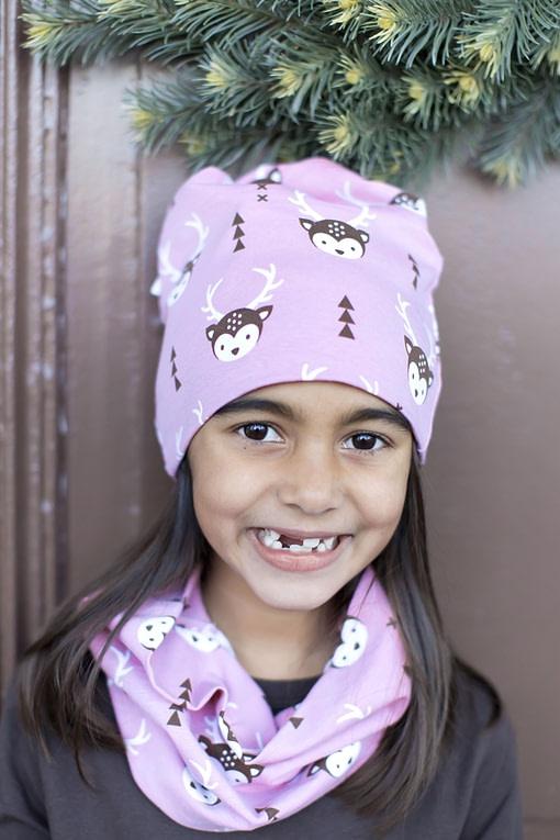 Deer organic cotton tube scarf from Maxomorra 3