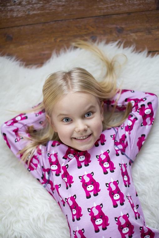 Maxomorra organic cotton pyjamas in polka beet design (110-116cm Age 4-6) 3